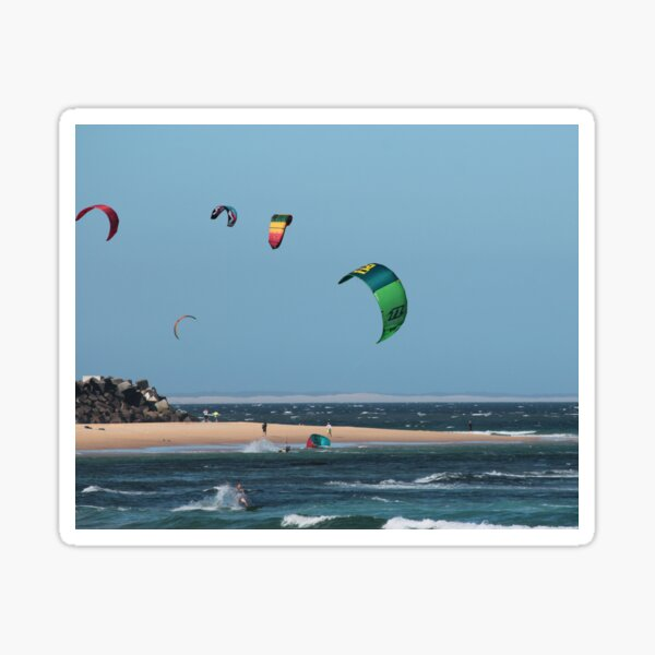 Kite Surfing @ Nobby's Sticker