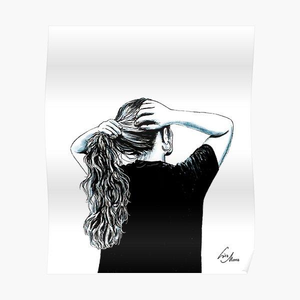 Hair Illustration Poster
