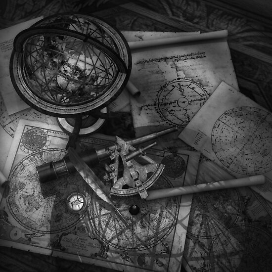 Old World Travel bw by Gypsykiss