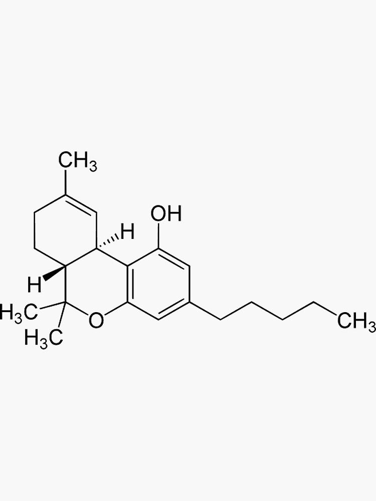 THC (Marijuana) Molecule by eldar