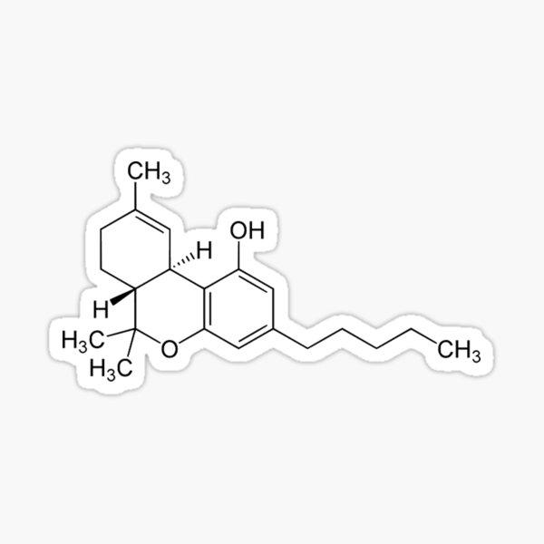 THC (Marihuana) -Molekül Sticker