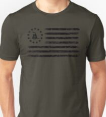 Dont Tread On Me - Original Rebel Flag (Black) T-Shirt
