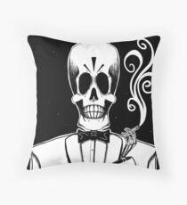 Manny Calavera (Stack's Skull Sunday) Throw Pillow