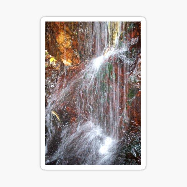 waterfall on red - Cairns, Australia Sticker