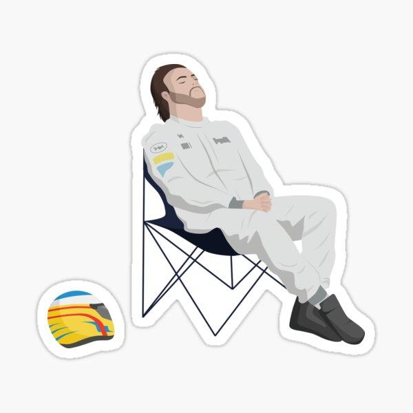 Tumbona Fernando Alonso F1 Pegatina