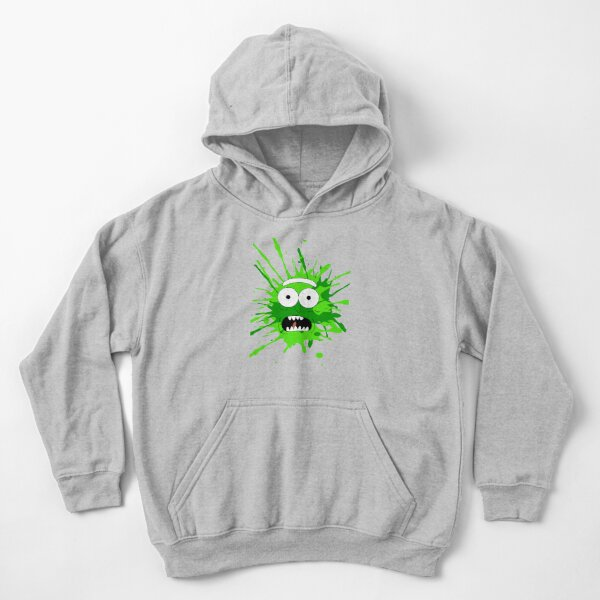 Pickle Rick Face Kids Pullover Hoodie
