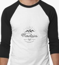 mountains transparent Men's Baseball ¾ T-Shirt
