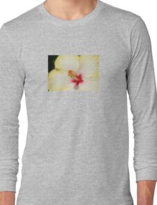 Stamen With Yellow Hibiscus Petal Background T-Shirt