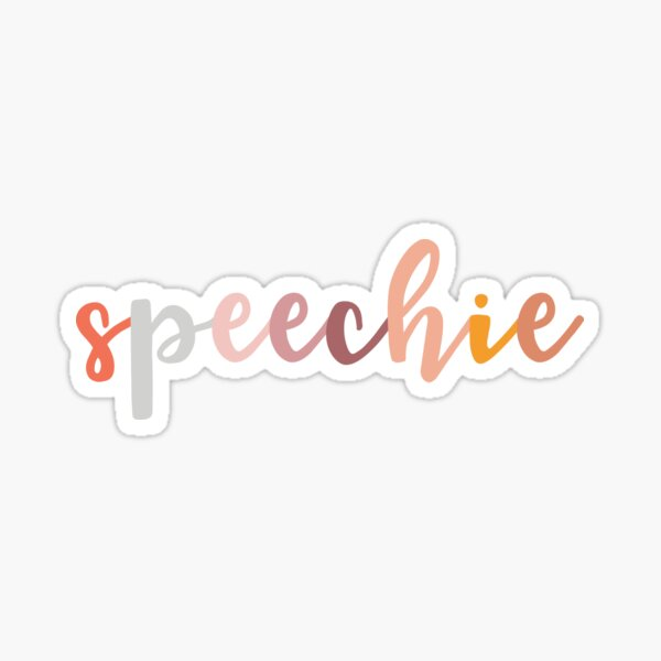 Speechie Speech Language Patólogo Speechie Boho Rainbow Retro Pegatina