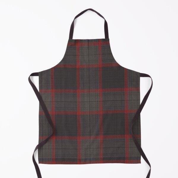 Hannibal TV Show Decor Fan Art - Cranberry Red and Warm Gray Plaid Suit Apron