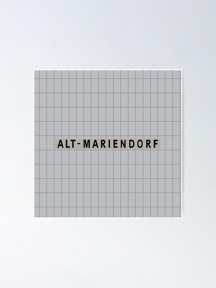 Alternate view of Alt-Mariendorf Station Tiles (Berlin) Poster