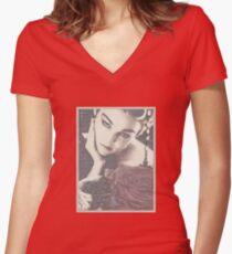 Valentine's Love  Women's Fitted V-Neck T-Shirt