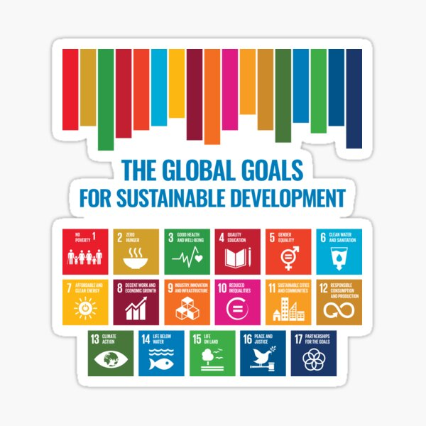 The Global Goals for Sustainable Development - UN Sustainable Development Goals SDGs 2030 Sticker
