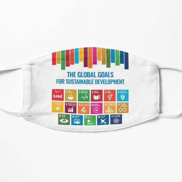 Die globalen Ziele für nachhaltige Entwicklung UN-Ziele für nachhaltige Entwicklung SDGs 2030 Flache Maske