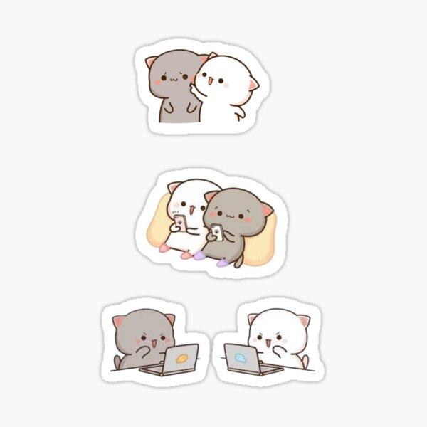 Peach and Goma (2) Sticker