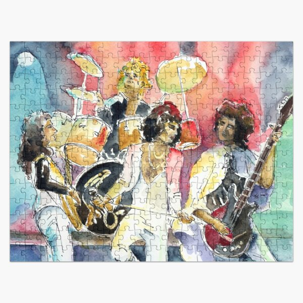 Rock band in live concert Jigsaw Puzzle