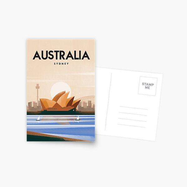Australia Sydney Travel poster Postcard