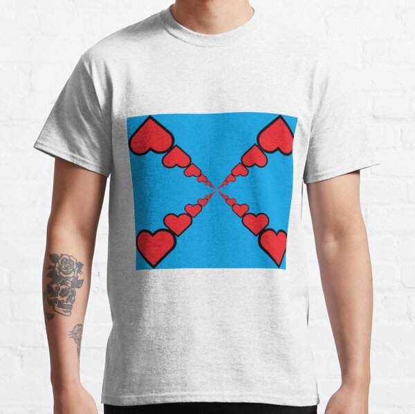 Series of emoji red hearts Classic T-Shirt