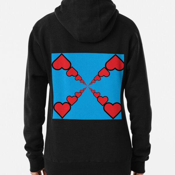 Series of emoji red hearts Pullover Hoodie