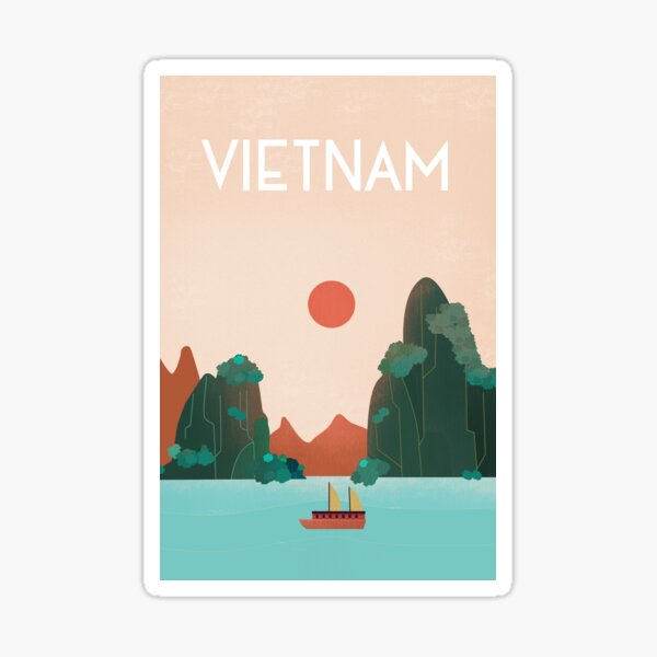 vietnam travel poster  Sticker