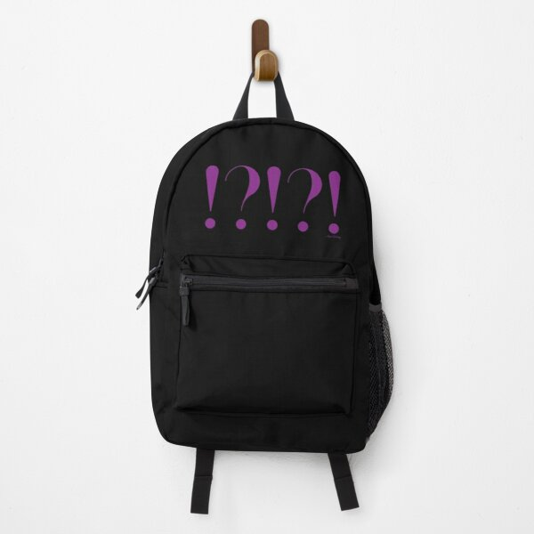 !?!?! punctuation exclamation question in purple Backpack