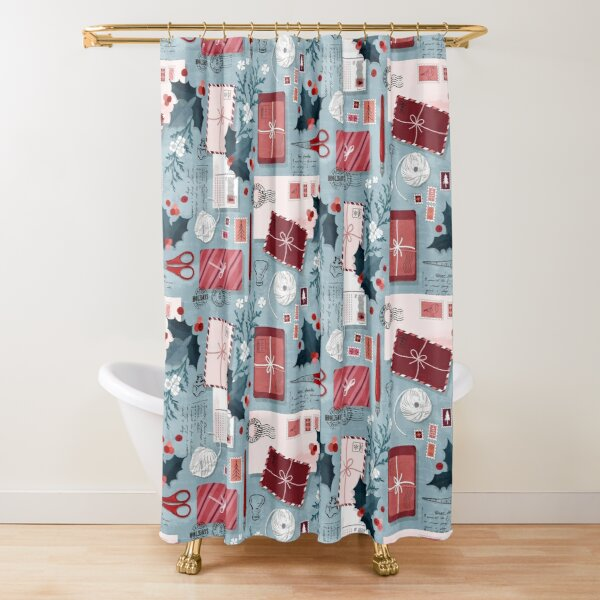 Christmas post Shower Curtain
