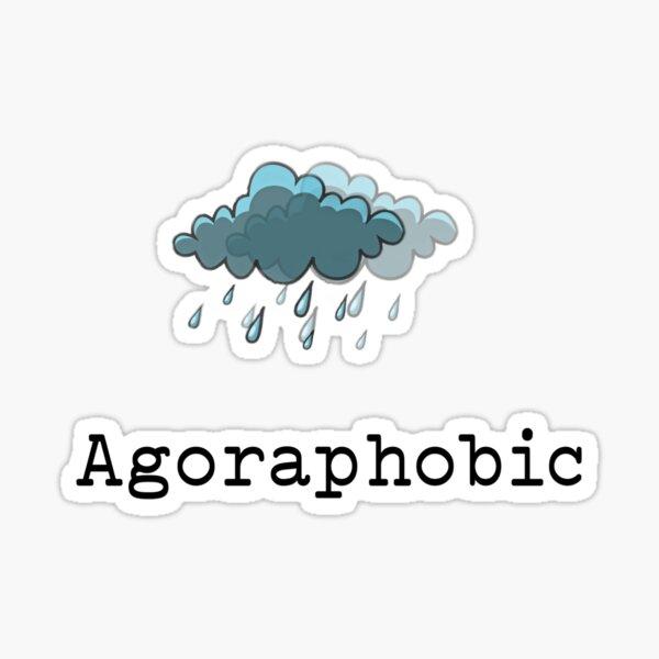 Agoraphobic face mask, mug and sticker Sticker