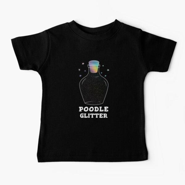 Poodle Glitter Jar Baby T-Shirt