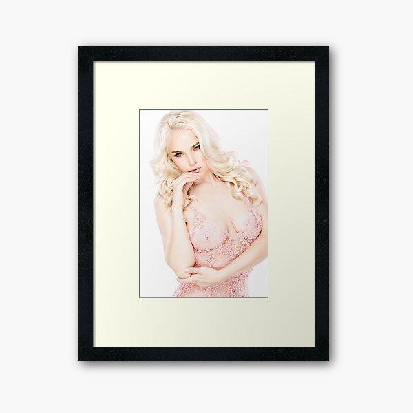 Photos - Model 12 - Cute blonde girl in pink lingerie 1 - 1 - 1 - 1 - 1 - 1 - 1 - Design 1 - 1 - 1 - 1 - 1 - 1 - 1 - 1 Framed Art Print