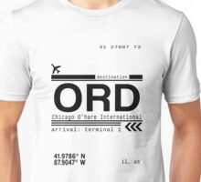 Chicago Ohare International Airport Call Letters Unisex T-Shirt