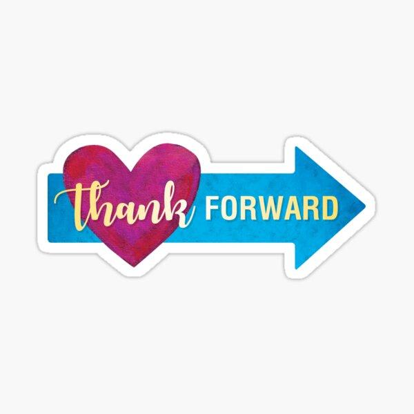 Thank Forward Logo Sticker