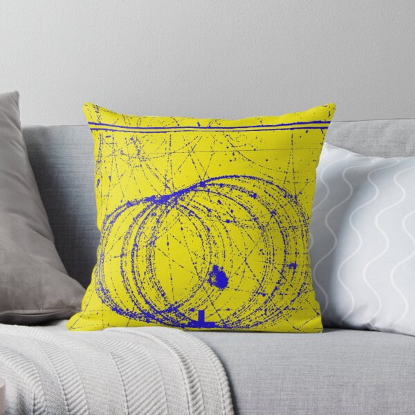Cloud Chamber Event, Electron and Positron,  Quantum Physics Throw Pillow