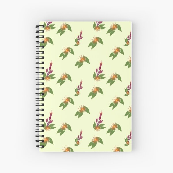 Southern Rata and Flax Flowers - Native New Zealand Plants Spiral Notebook