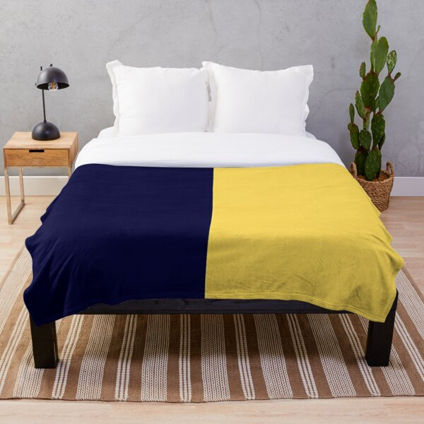 Navy Blue Solid Color Throw Blanket By Rewstudio Redbubble