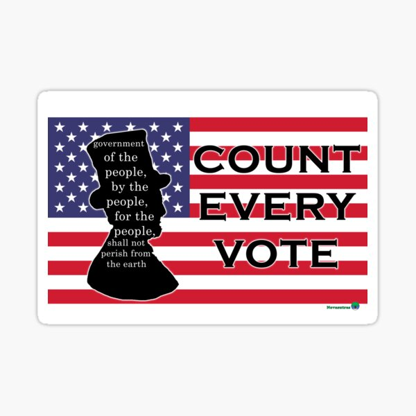 By For Of the People: Count Every Vote Sticker
