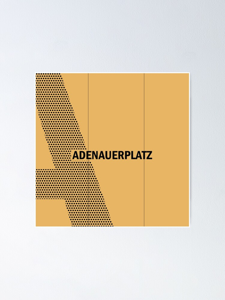 Alternate view of Adenauerplatz Station Tiles (Berlin) Poster