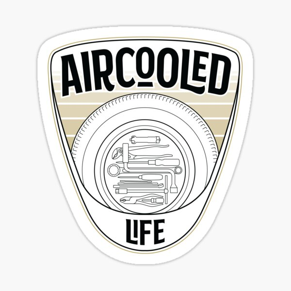 Spare wheel tool kit - Aircooled Life Classic Car Culture Sticker