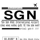 SGN Ho Chi Minh City International Airport Call Letters by Leah Biernacki