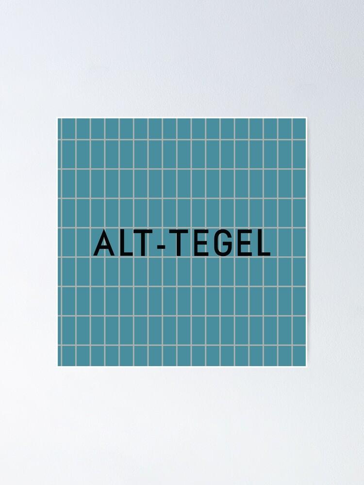 Alternate view of Alt-Tegel Station Tiles (Berlin) Poster