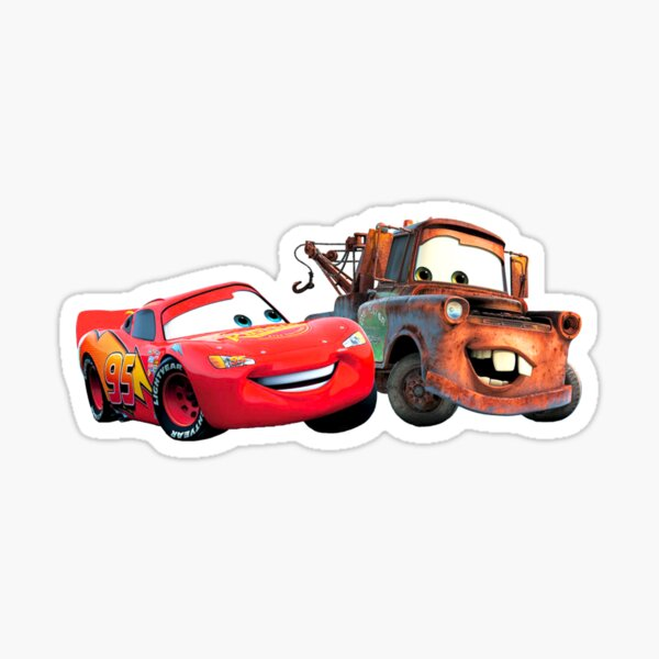 Rayo McQueen y Mater Pegatina