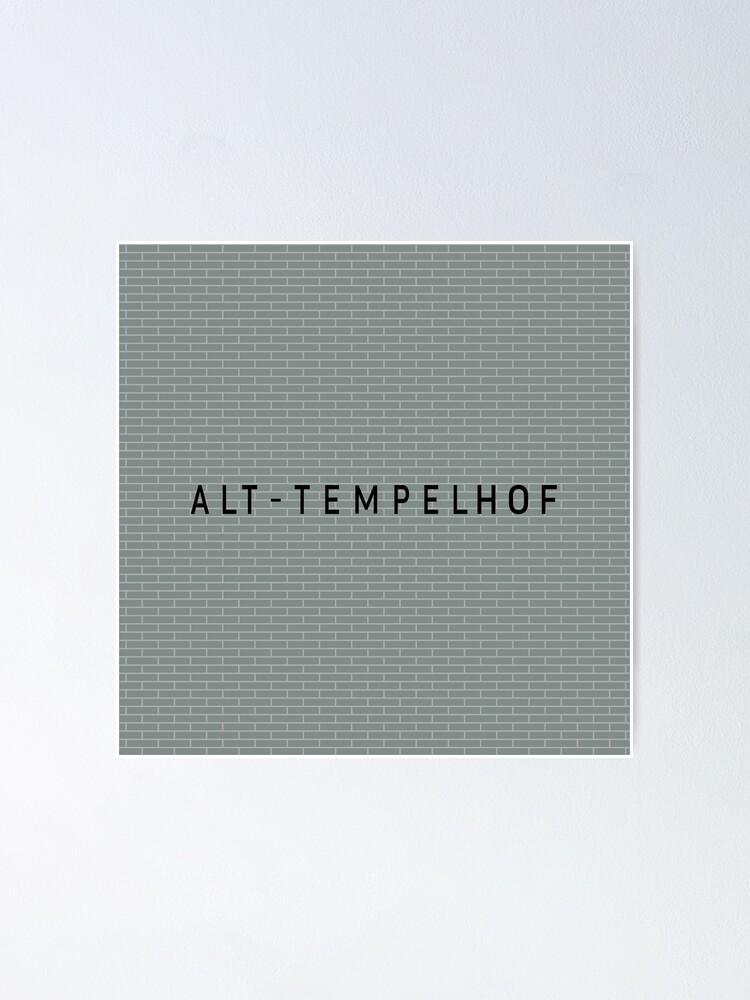 Alternate view of Alt-Tempelhof Station Tiles (Berlin) Poster