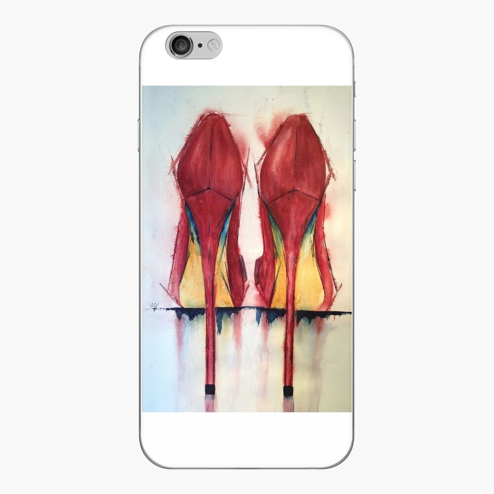 Red Shoes - Girls' Best Friends iPhone Skin