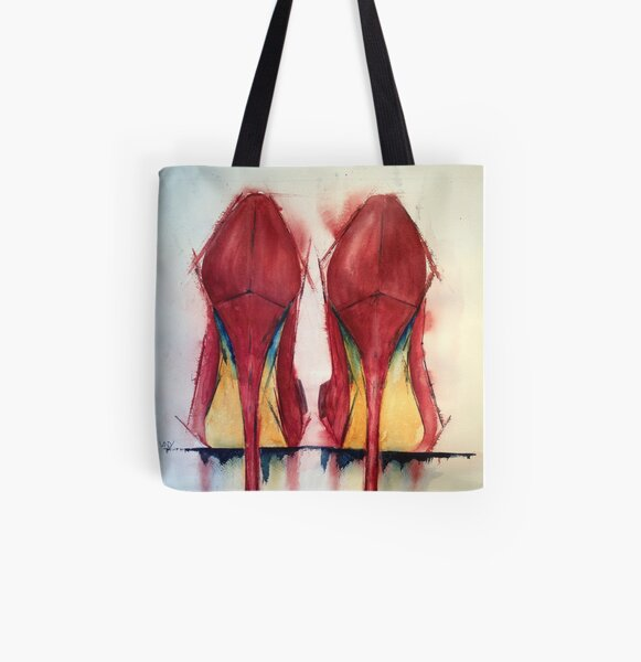Red Shoes - Girls' Best Friends All Over Print Tote Bag