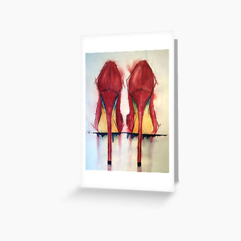 Red Shoes - Girls' Best Friends Greeting Card
