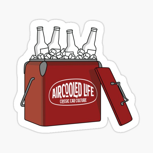 Aircooled Life Cool Box Beer Design Sticker