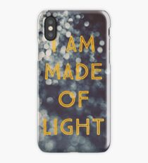 Made Of Light iPhone Case/Skin
