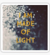 Made Of Light Sticker