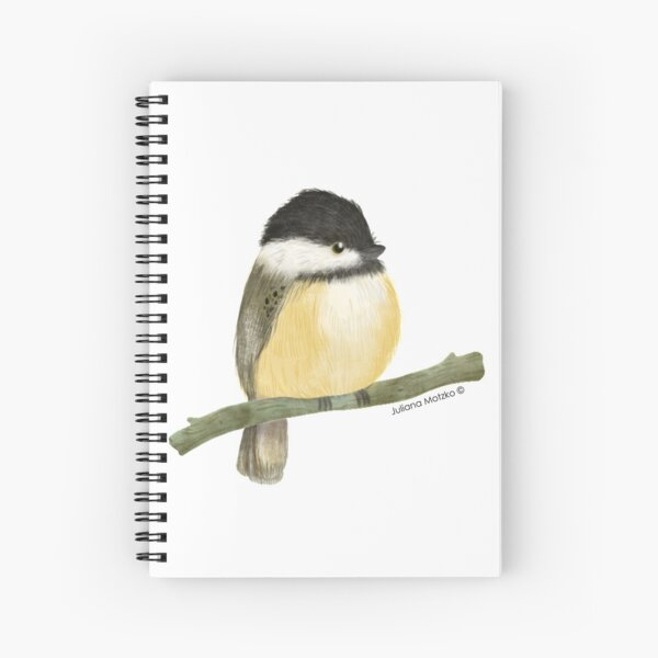 Black capped chickadee bird Spiral Notebook
