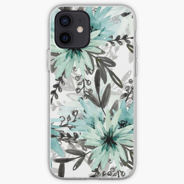 Blue asters iPhone Soft Case