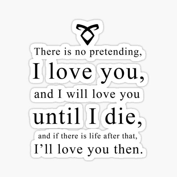 Jace Wayland - Love Quote Sticker